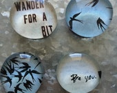 Wander for a bit set of fourGlass Magnets