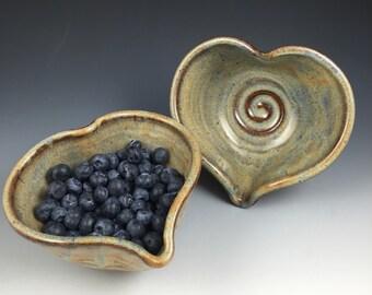 Heart Bowl- Handmade Heart Bowl - Ceramic Heart - Ready to Ship