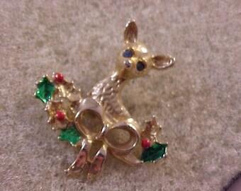 Reindeer Christmas Brooch Pin