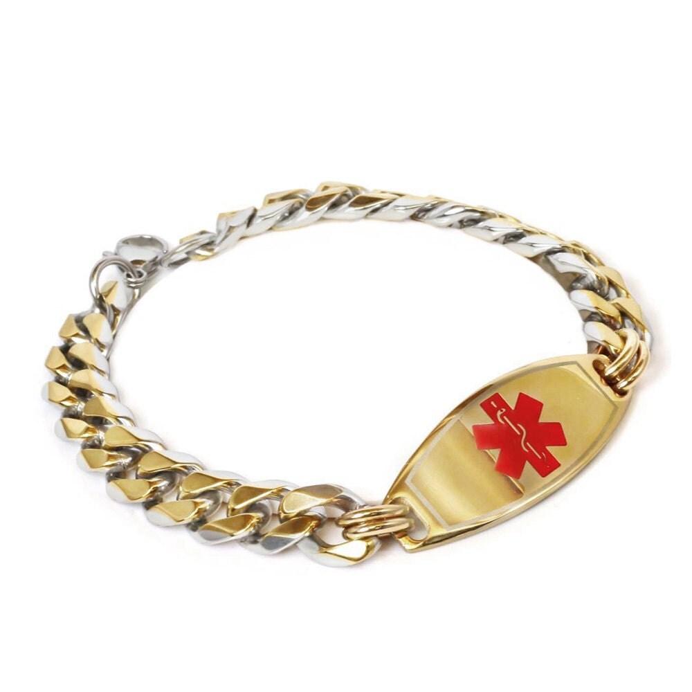 Medical alert bracelet probably just shitfaced
