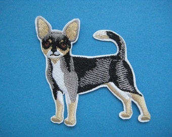 Iron-on Embroidered Patch Chihuahua 2.75 inch