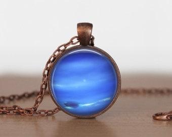 Neptune Pendant Jewelry Neptune   Necklace planet jewelry