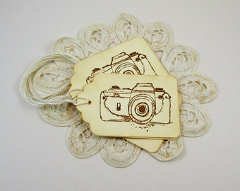 Camera Gift Tags, Photographer Gift Tags, Thank you Tags, Photography Cards