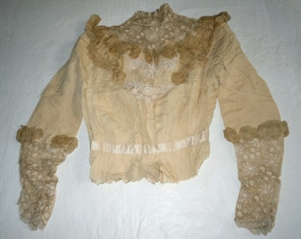 Antique Ladies Lace top for repair pattern or study