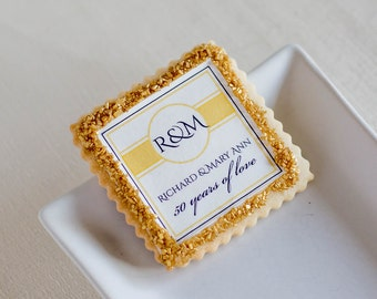 Golden anniversary cookie favors
