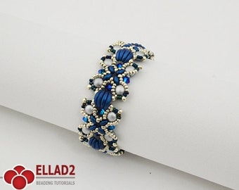 Tutorial Nevis Bracelet - Beading tutorial, Jewelry Tutorial, Instant download, Ellad2