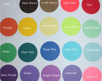 Cardstock Color Chart