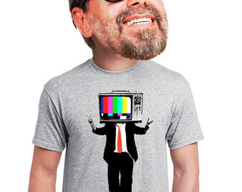 television t-shirt for men  funny geeky nerdy tv shirt. original cool tee for tv fan college student teens quirky unusual edgy t-shirt s-4xl
