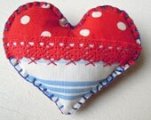 Heart Brooch Red/White/Blue Patriotic