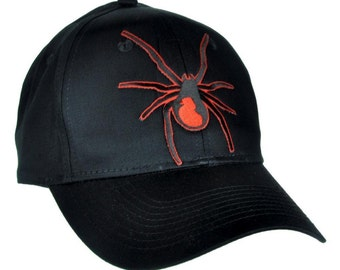 Black Widow Spider Black Baseball Cap Hat - DYS-EP404-CAP