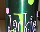 Personalized Water Bottle\ Monogrammed Initial\Christmas Gift\BOTTLE NOT INCLUDED\Gym\Aluminum Water Bottle\Sports\Shool\Office