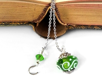 Personalized Beaded Bookmark - Book Mark with Custom Initial, Book Thong