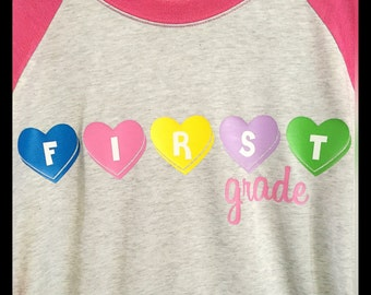 Candy Heart Valentine Teacher shirt
