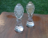 RESERVED for 14carrot Vintage Crystal Cut Glass Salt and Pepper Shakers