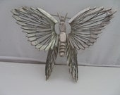 Vintage Sterling 925 Silver 3-D Butterfly Pin Brooch Mexico 25 Grams Signed
