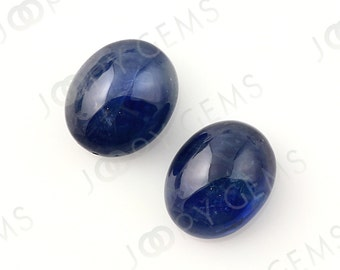 Sapphire Oval Cabochon matched pair, 11.190 tcw, 10.7x8.5x5.9mm