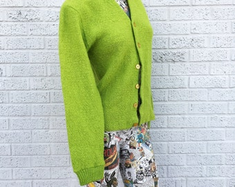 Vintage 60s Lime Green Sweater