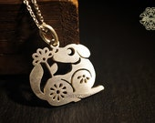 Chinese Zodiac Dog 925 Sterling Silver Pendant (P141)