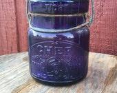 Vintage Royal Purple Mason Jar Chef Mason Jar