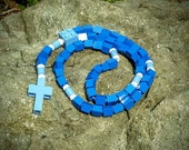 Lego Rosary - The Original Catholic Lego Rosary - Blue and White (Blessed Mother)