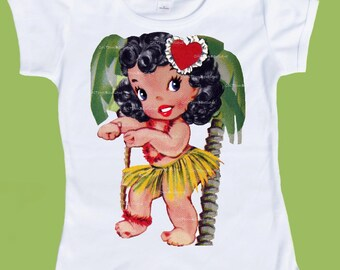 Island Girl,Hula Dancer, Hawaiian tshirt, Girls Clothes, Baby Girls clothes,Tank, T-Shirt or One Piece Baby by ChiTownBoutique.etsy