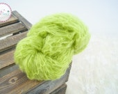 Lime Green Lacy Mohair Wrap, Handknit Newborn Photo Prop Wrap,  Newborn Mohair Swaddle Blanket, Newborn Baby Photography Props