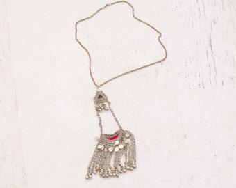 Vintage Moroccan Pendant Necklace - 70s Ethnic Necklace - Casbah Necklace