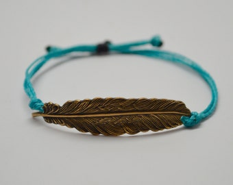 Feather Bracelet, Adjustable Feather Bracelet