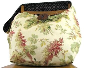 SLOUCHY HOBO BAG - Floral Bag - Cross Body Bag - Vegan Bag - Over Shoulder Bag - Crossbody Bag - Slouch Bag - Crossbody Purse - Boho Bag
