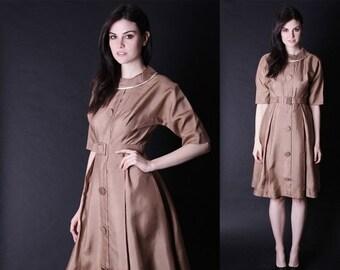 70% Off FINAL SALE - 1960s Gold Dress - Mad Men Dress - 50s Dresses -  2824