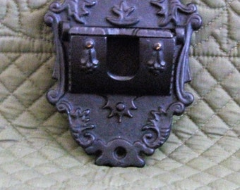 Vintage Cast Iron Wilton Matchstick Holder Wall Mount