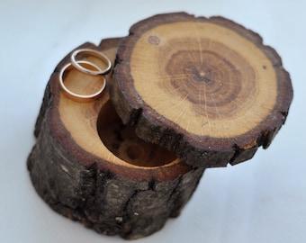 ring box • ring bearer pillow • red oak wood box