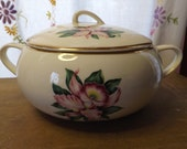 Paden City Pottery Covered Vegetable Bowl