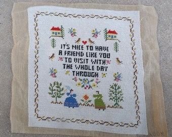 Friendship Sampler Needlepoint Canvas