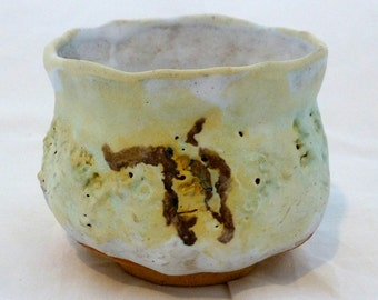 Yumoni, Yellow and White with Brown decoration.  Lovely shape, excellent handling qualities.  Signed.   Artist George Watson