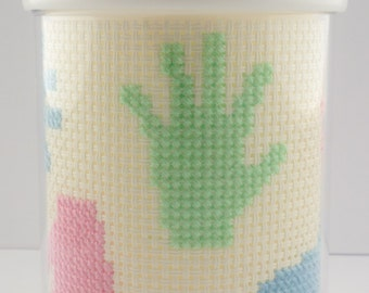 Cross Stitch Sippie Cup - Perfect Baby Shower Gift