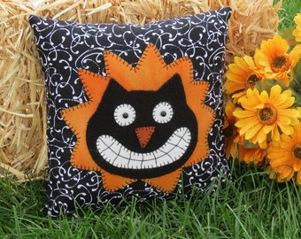 Cheshire Cat Pillow Alice in Wonderland Cat Halloween Cat pillow Silly Cat pillow