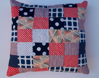 Quilted Cushion Cover.