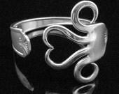 Recycled Silver Fork Bracelet in Original Heart Design