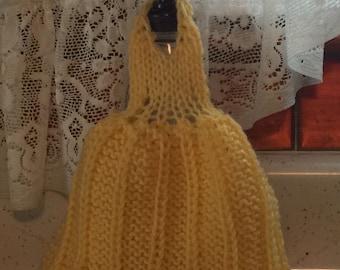 Hand Knit Dishcloth Dress