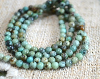2mm African Turquoise Blue Natural Gemstone Beads Round 16 Inches Strand