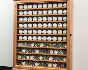 Golf Ball Course Poker Chip Display Cabinet