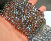 Mystic aura quartz grey - 6mm round - Holographic quartz - 63 Beads - full strand - RFG836