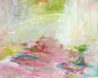 Colorful Abstract Expressionist Original Painting- Spring Fever 24 x 36