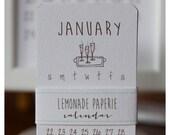 2017 Mini Doodle Calendar