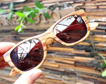 Walker2012   Handmade Vintage Zebra Wood  Wooden Sunglasses Glasses Eyeglasses