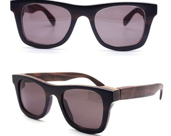ebony  WALKER2011 handmade wood  prescription sunglasses eyeglasses TAKEMOTO