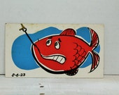 Reserved for louannrossman Vintage 1960's Advertising, Comic, Art, Presentation Materials, Fish