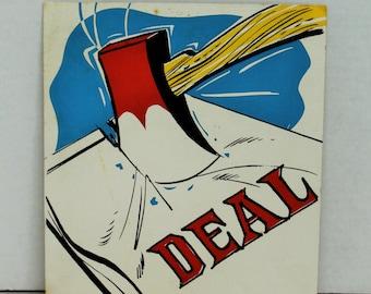 Vintage 1960's Advertising, Comic, Art, Presentation Materials, Deal Breaker