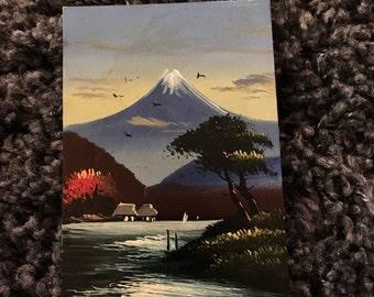Vintage Hand-Painted Postcard - Japan